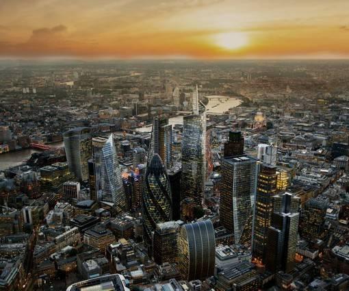 Фотообои Вид лондона с высоты (ID 1103)