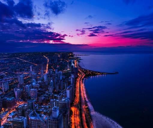 Фотообои Прибрежный город (ID 1105)