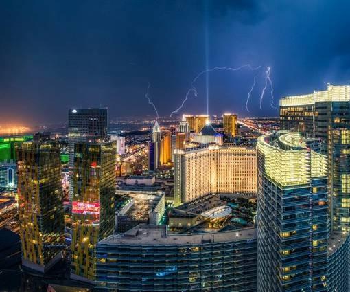 Фотообои Молния над городом (ID 1108)