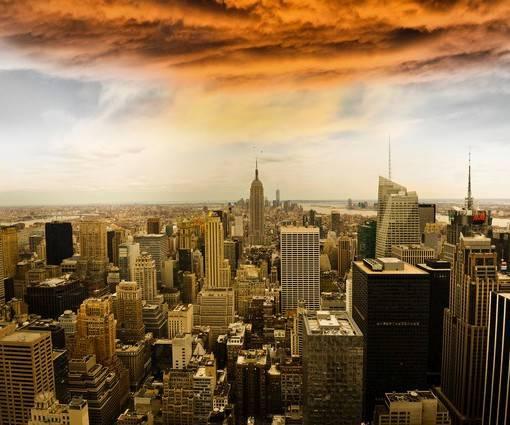 Фотообои Буря над Манхэттеном (ID 1116)