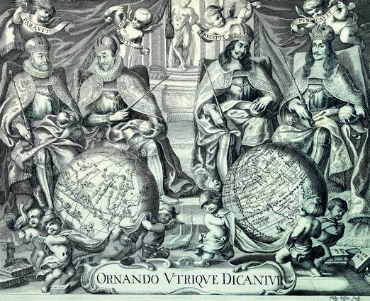 Antique Maps of the WorldTitle PagePhilip Kilianc 1680