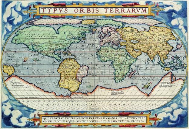Antique Maps of the WorldMap of the WorldAbraham Orteliusc 1570