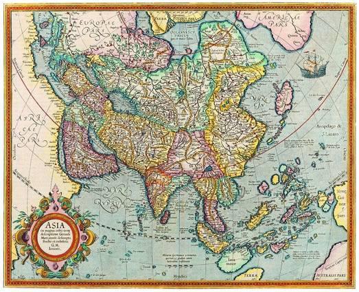 Antique Maps of the WorldMap of AsiaJodocus Hondiusc 1620