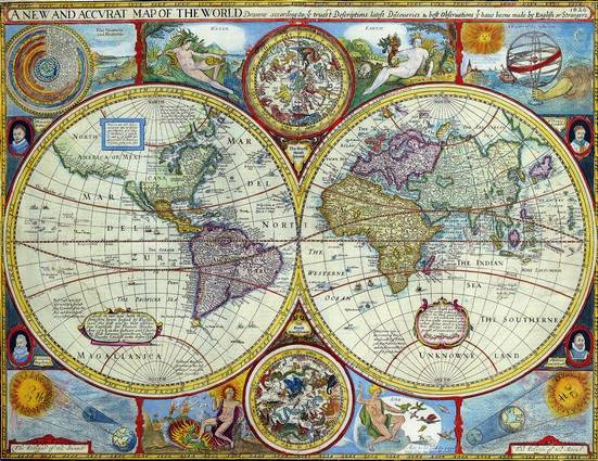 Antique Maps of the WorldMap of the WorldJohn Speedc 1646