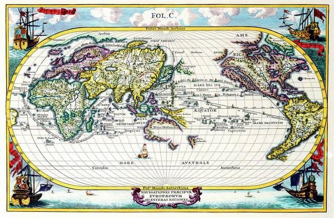 Antique Maps of the WorldMap of the WorldHeinrich Schererc 1700