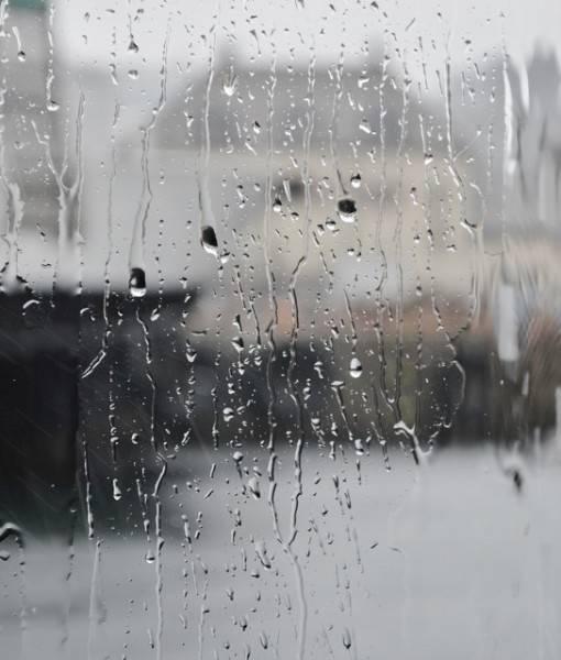 Фотообои Дождевые капли на стекле (ID 1474)