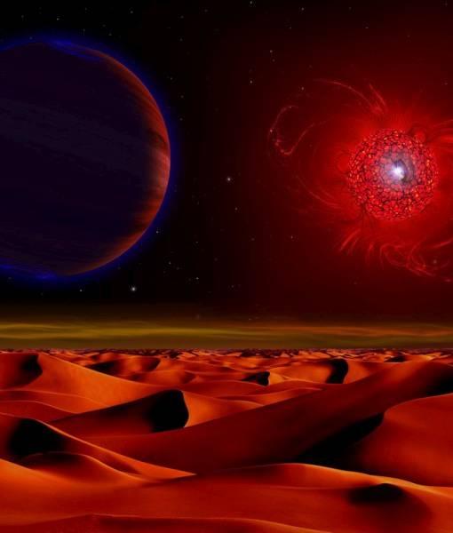 Фотообои Космическая пустыня (ID 1596)