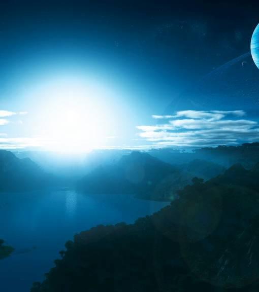 Фотообои Небо над горами (ID 1600)