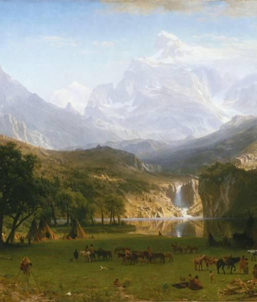 Фотообои А. Бирштадт «Скалистые горы» (ID 1628)