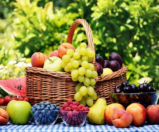 Фотообои Корзина с фруктами (ID 986)