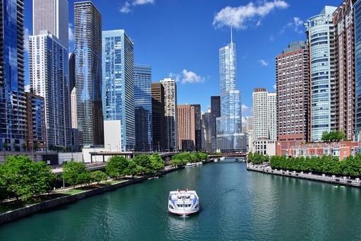 Фотообои Чикаго. Канал (ID 1895)