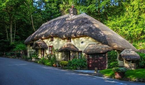 Фотообои Англия. Дом у дороги (ID 2085)