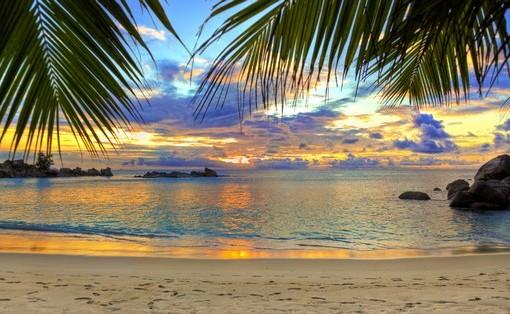 Фотообои вечерний пляж (ID 3506)