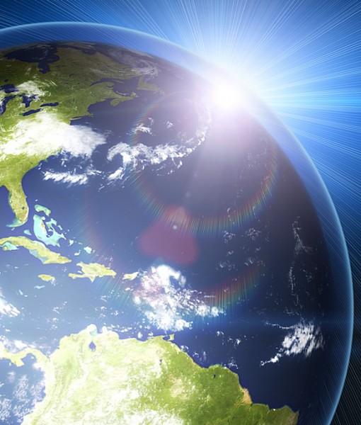 Фотообои Земля в лучах Солнца (ID 6209)