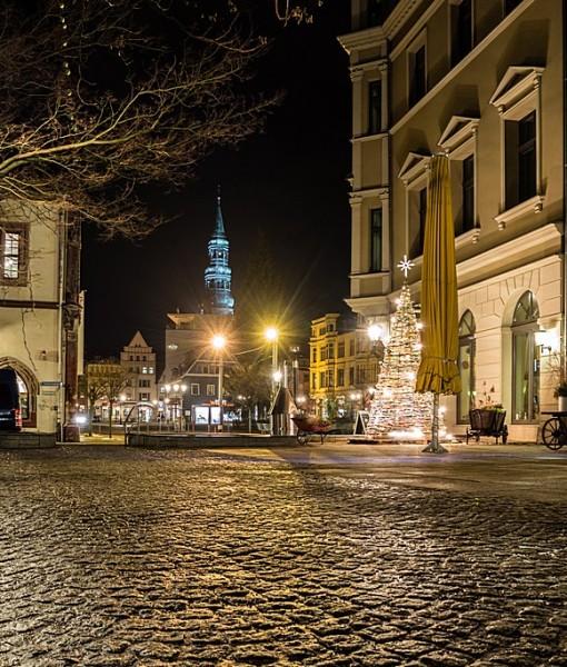 Фотообои Ночная рождественская улица (ID 7212)