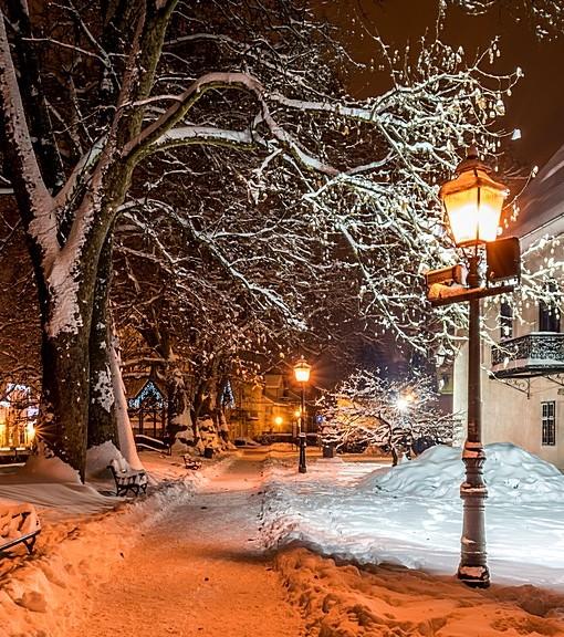 Фотообои Зимний вечер (ID 7215)