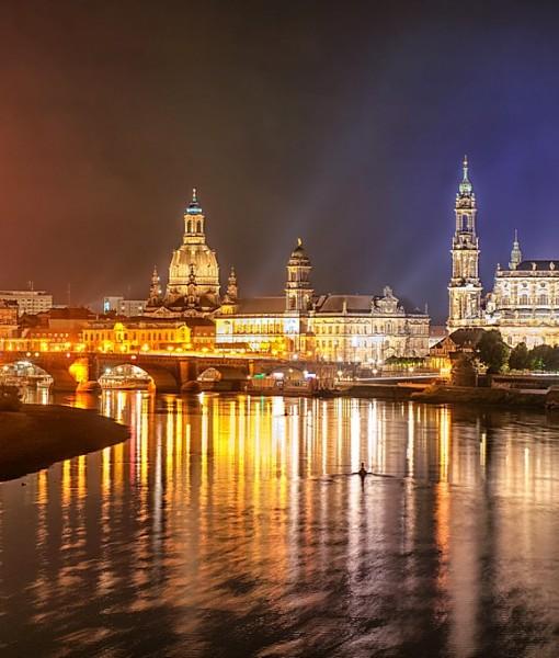 Фотообои Ночной Дрезден (ID 7216)