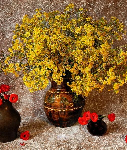 Фотообои Букет цветов в кувшине (ID 7812)