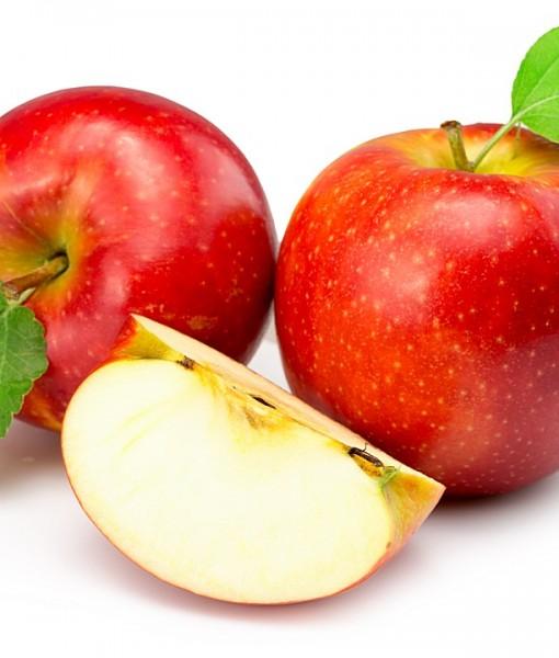 Фотообои Красное яблоко на светлом фоне (ID 13692)