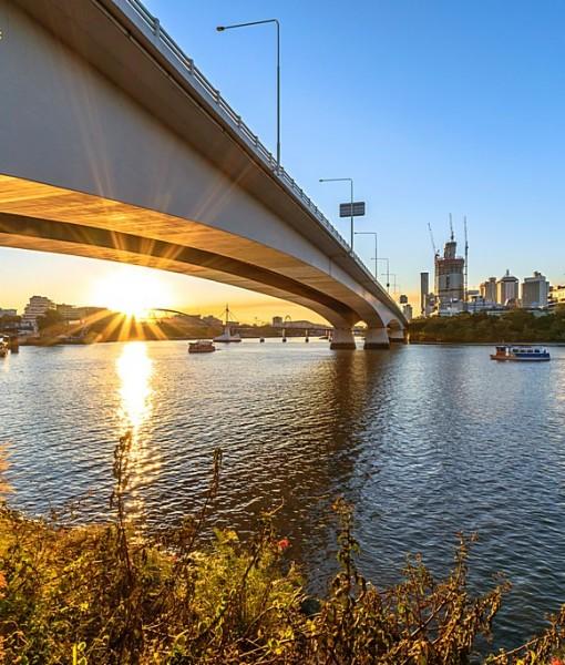 Фотообои Автомост через реку (ID 14537)