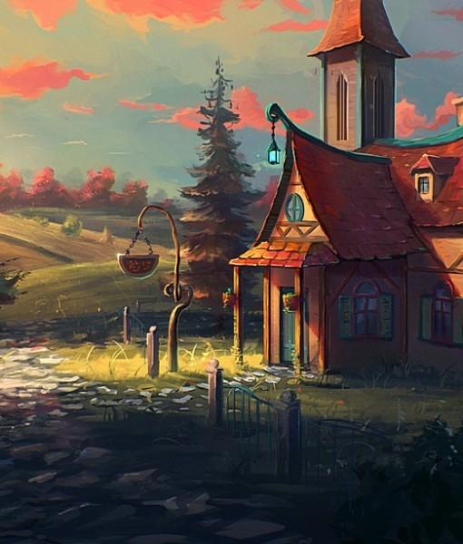 Фотообои Сказочный дом (ID 15411)