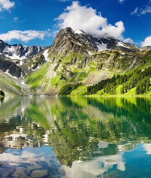 Фотообои Отражение в горном озере (ID 15436)