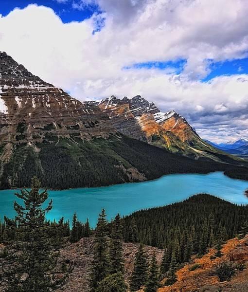 Фотообои Вид на гороное озеро (ID 15442)