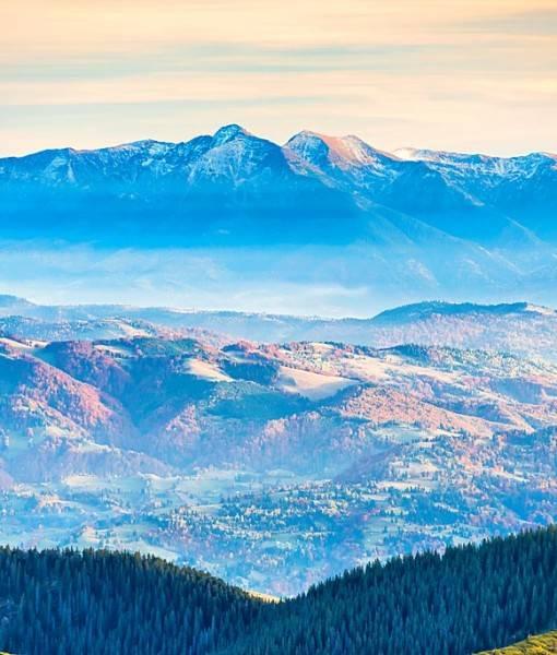 Фотообои Панорама горных вершин (ID 15443)