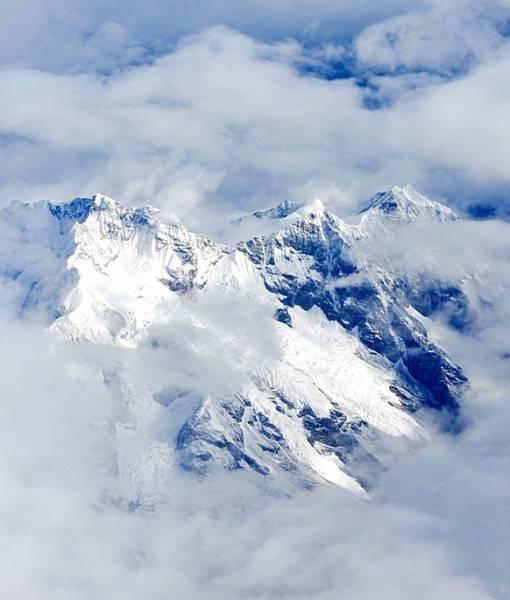 Фотообои Горные вершины в облаках (ID 15445)