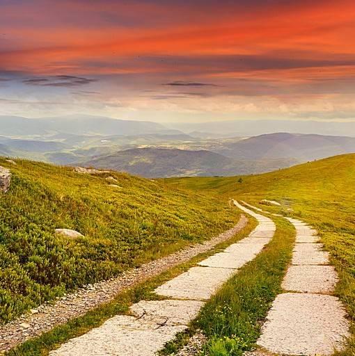 Фотообои Дорога в горах (ID 15466)