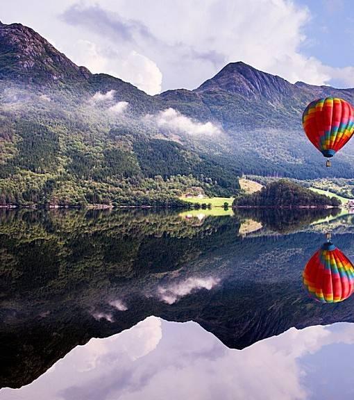 Фотообои Шар над озером (ID 15507)