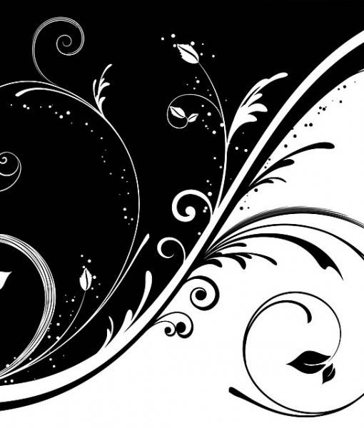Фотообои Черно-белый узор (ID 16108)