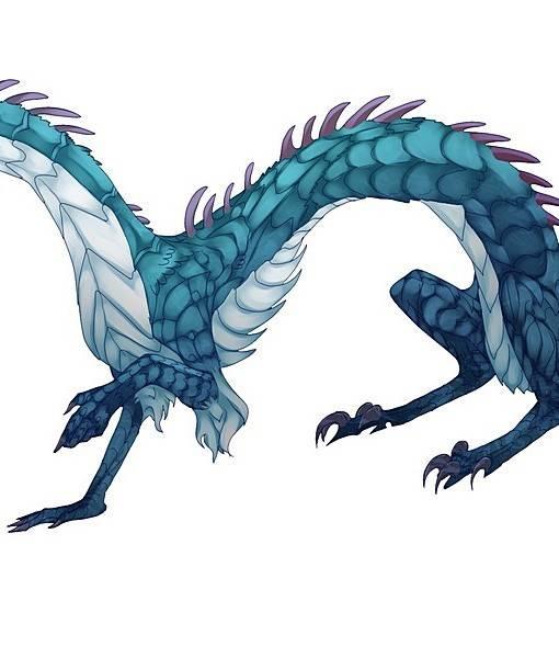 Фотообои Синий дракон (ID 16245)