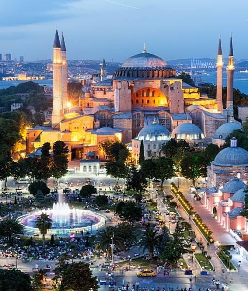Фотообои Вид на площадь перед мечетью (ID 16419)