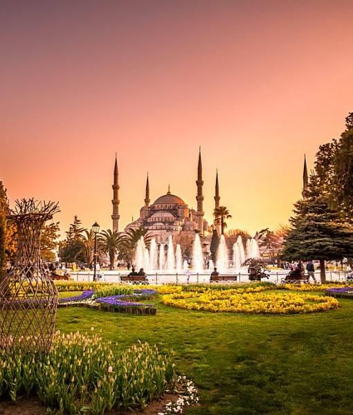 Фотообои Фонтан перед мечетью (ID 16423)