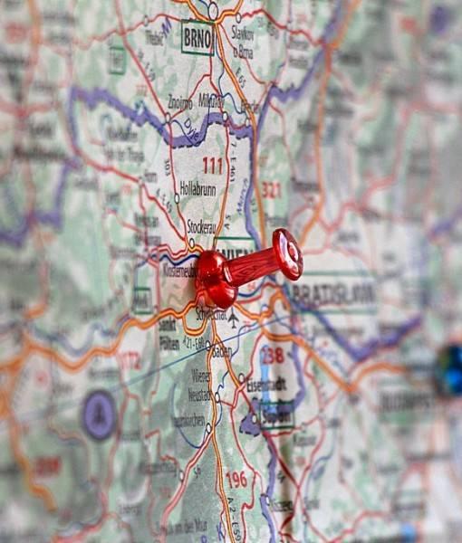 Фотообои Отметка на карте (ID 16439)