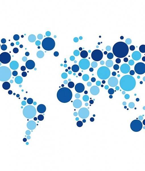 Фотообои Узор в форма карты мира (ID 16454)