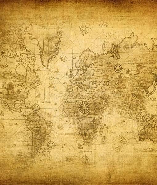 Фотообои Старая карта (ID 16536)
