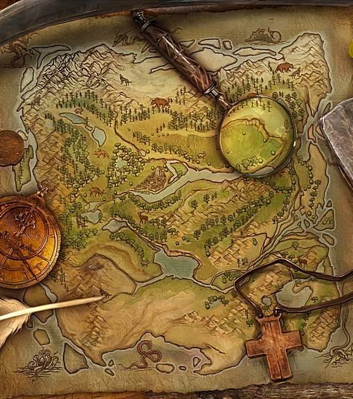 Фотообои Карта золотоискателя (ID 16582)
