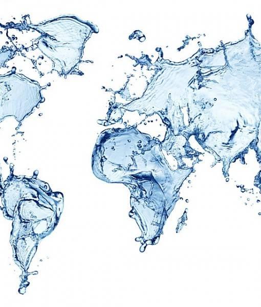 Фотообои Карта из воды (ID 16591)