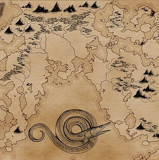 Фотообои Нарисованная карта (ID 16635)