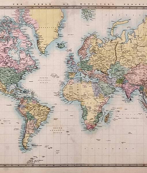 Фотообои Карта мира (ID 16650)