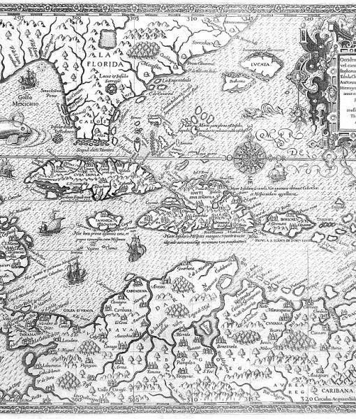 Фотообои Карта-гравюра (ID 16658)