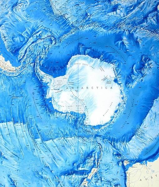 Фотообои Карта Антарктики (ID 16671)