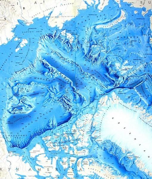 Фотообои Карта Северного моря (ID 16673)