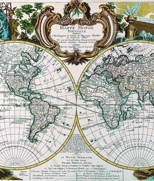 Фотообои Карта полушарий (ID 16683)