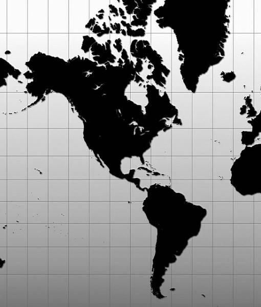 Фотообои Черная карта (ID 16686)