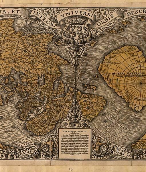 Фотообои Старинная карта (ID 16701)