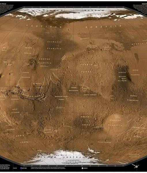 Фотообои Карта поверхности Марса (ID 16708)