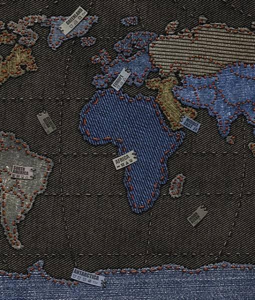 Фотообои Джинсовая карта (ID 16721)